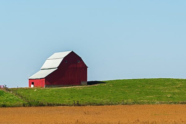 Lone Red Barn by Edward Peterson